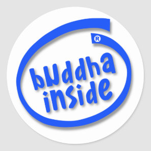 buddha Inside Classic Round Sticker