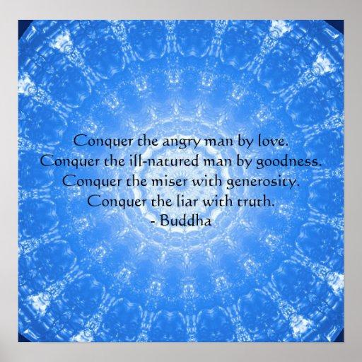 Buddha inspirational quotation POSTER