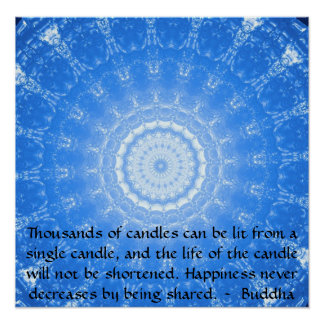 Buddha inspirational QUOTE about HOPE poster