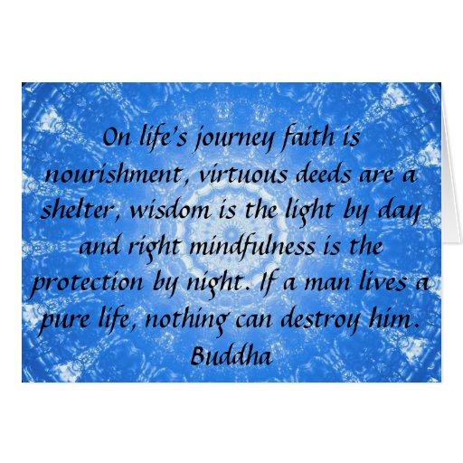 Buddha inspirational QUOTE life's journey faith Card | Zazzle