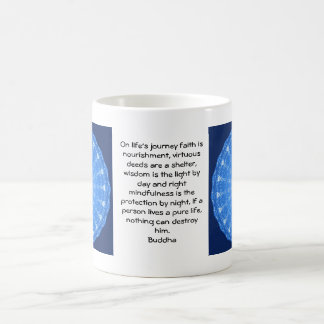 Buddha inspirational QUOTE  life's journey faith Classic White Coffee Mug
