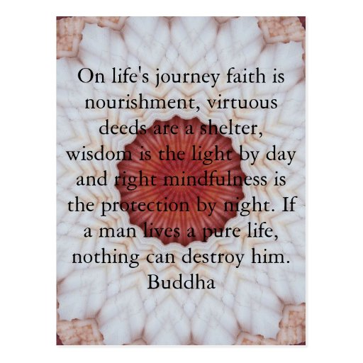 buddha inspirational quote life 39 s journey faith postcard