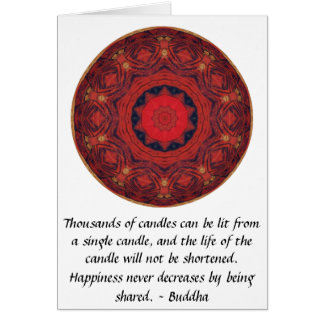 Buddha inspirational QUOTE - Thousands of candles Greeting Card