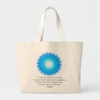 Buddha Inspirational Words of Wisdom  QUOTE Jumbo Tote Bag