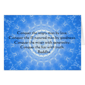 Buddha Inspirational Words of Wisdom  QUOTE Card