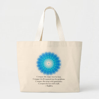 Buddha Inspirational Words of Wisdom  QUOTE Large Tote Bag
