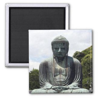 buddha kamakura 2 inch square magnet