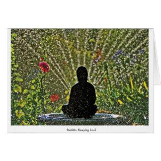 Buddha Keeping Cool Notecards Card