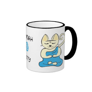 Buddha Kitty Cup Ringer Coffee Mug