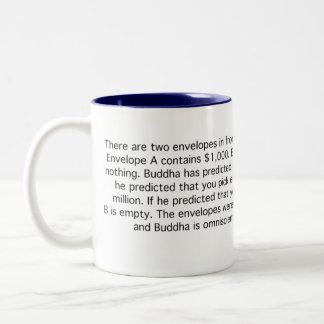 Buddha Knows Your Future Two-Tone Coffee Mug