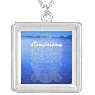 Buddha lake, Compassion Silver Plated Necklace