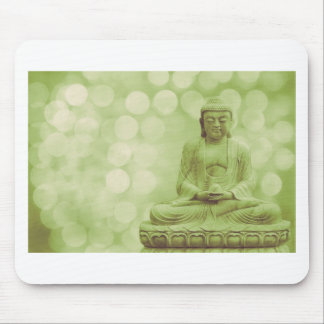 buddha light (light green) mouse pad