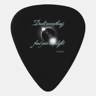 Buddha Light Quote Guitar Pick