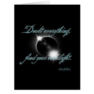 Buddha Light Quote Large Greeting Card