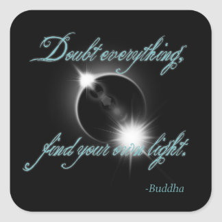 Buddha Light Quote Square Stickers