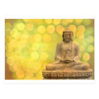 buddha light (yellow) postcard