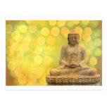 buddha light (yellow) tarjeta postal