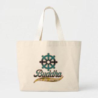 Buddha Live the Dharma Tote Bags