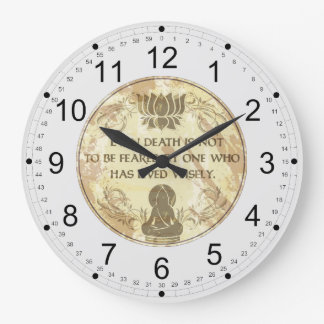 Buddha Live Wisely Large Clock