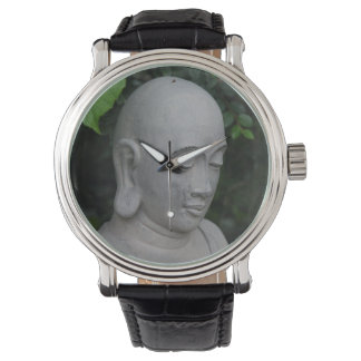 Buddha lost in thoughts wrist watch
