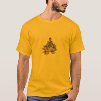 Buddha & Lotus Design T-Shirt