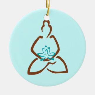 Buddha Lotus Henna Christmas Ornament
