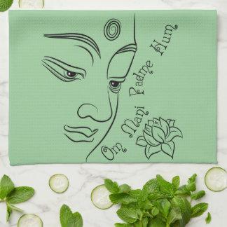 Buddha Lotus Om Mani Padme Hum Kitchen Towels