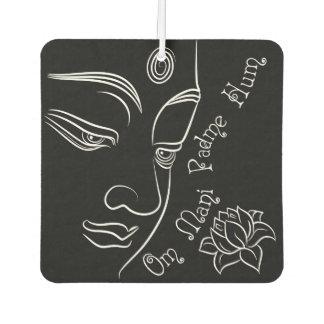 Buddha Lotus Om Mani Padme Hum White