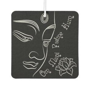 Buddha Lotus Om Mani Padme Hum White Air Freshener