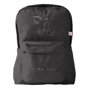 Buddha Lotus Om Mani Padme Hum White American Apparel™ Backpack