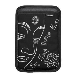 Buddha Lotus Om Mani Padme Hum White iPad Mini Sleeve