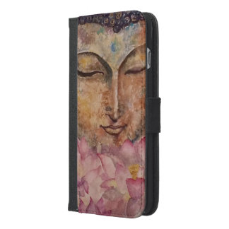 Buddha Lotus Watercolor Art iPhone 6s Wallet