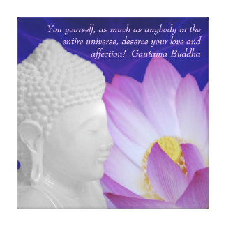 Buddha Love and affection Canvas Print