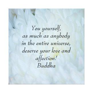Buddha Love and affection Dahlia Canvas Print