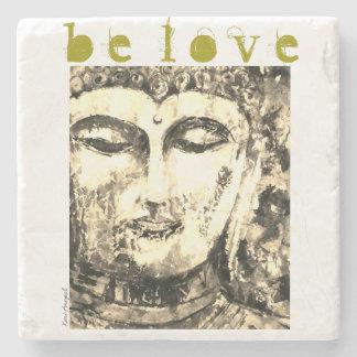 Buddha Love Watercolor Art Stone Coaster