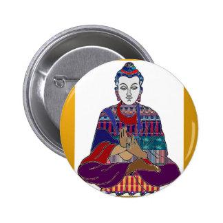 BUDDHA Mahatma Buddhism Kind NVN633 LOVE LIGHT 2 Inch Round Button