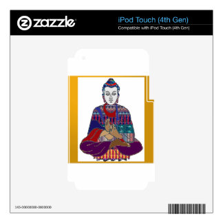BUDDHA Mahatma Buddhism Kind NVN633 LOVE LIGHT iPod Touch 4G Skin