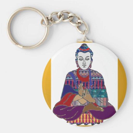 BUDDHA Mahatma Buddhism Kind NVN633 LOVE LIGHT Keychain