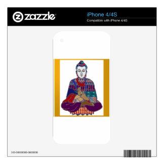 BUDDHA Mahatma Buddhism Kind NVN633 LOVE LIGHT iPhone 4 Skin