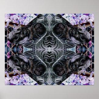 """Buddha Mandala"" Abstract Meditation Art Poster"