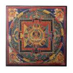 "Buddha Mandala Antique Tibetan Thanka Ceramic Tile<br><div class=""desc"">Buddha Amitabha Reproduction of an antique Tibetan Thanka.</div>"