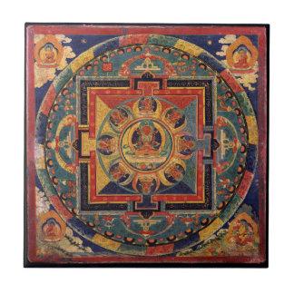 Buddha Mandala Antique Tibetan Thanka Ceramic Tile