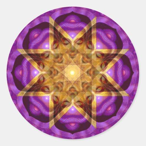 Buddha Mandala Art Classic Round Sticker