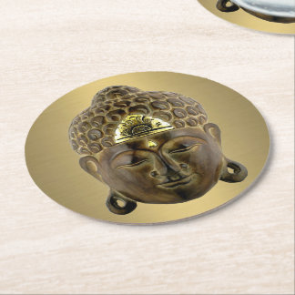 Buddha Mask Round Paper Coaster