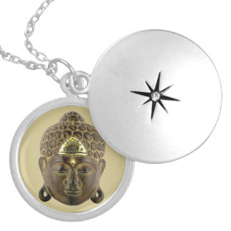 Buddha Mask Silver Plated Necklace