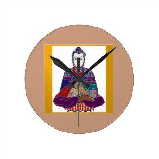 BUDDHA Master Yoga Spirit Lord Teacher Meditation Round Wallclocks