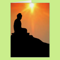 Buddha Meditating Card