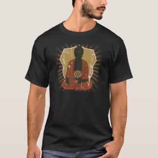 Buddha Meditating Dharma Wheel T-Shirt