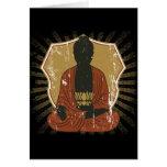 Buddha Meditating Lotus Flower Card
