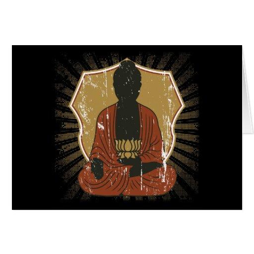 Buddha Meditating Lotus Flower Greeting Card